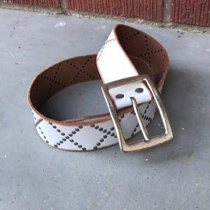 Linea Pelle  Handmade Leather Stud Belt